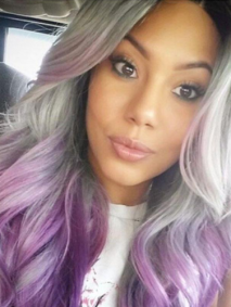 Lavender Silver Hairstyle