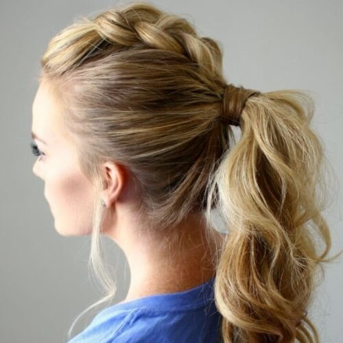 Loose Ponytail Braided Mohawk