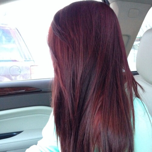 Mahogany Black Cherry Hair