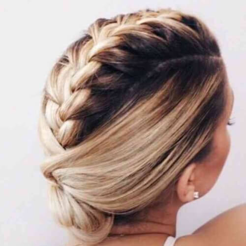 Mohawk Braid with Chignon