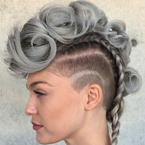 Mohawk Braids with Shaved Sides