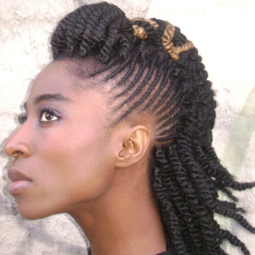 Mohawk Braids with Twist