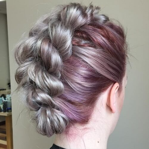 Ombre Braided Mohawk