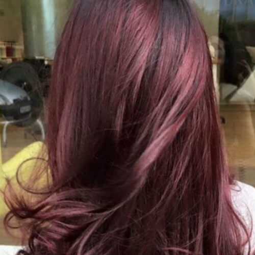Pale Black Cherry Hair
