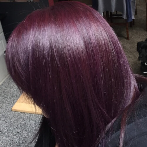 Pale Plum Hairstyle