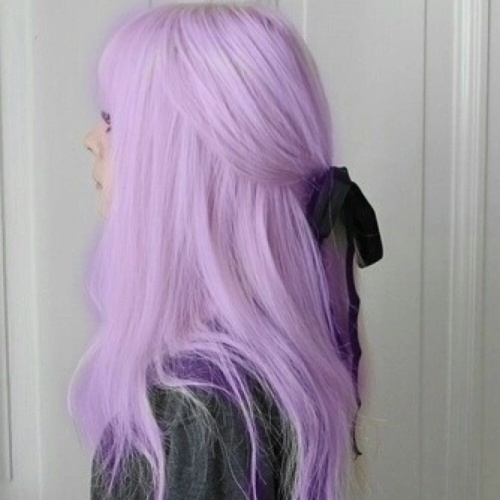Pastel Lavender Hairstyle