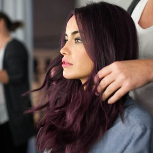 Plum Black Cherry Hair