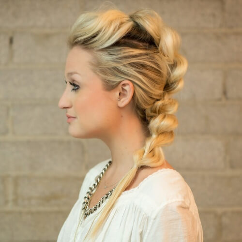 Pull Through Mohawk Braid