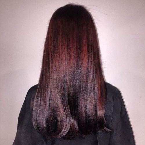 Sombre Black Cherry Hair