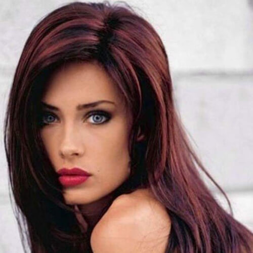 Subtle Highlights Black Cherry Hairstyle