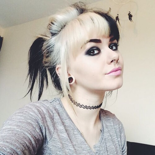 Black and White Two Tone Hair