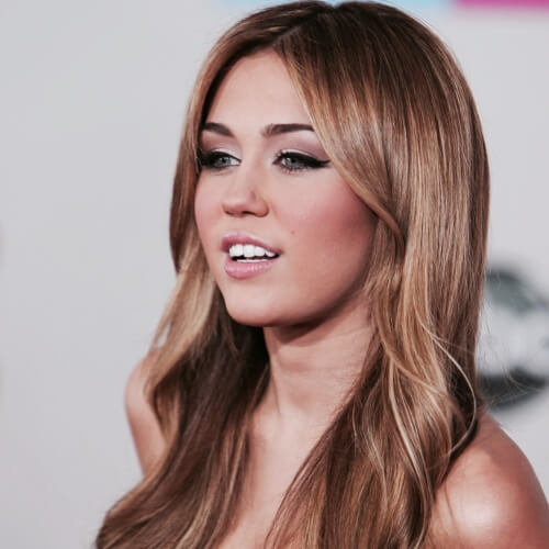 Caramel Boho Waves Miley Cyrus Haircut