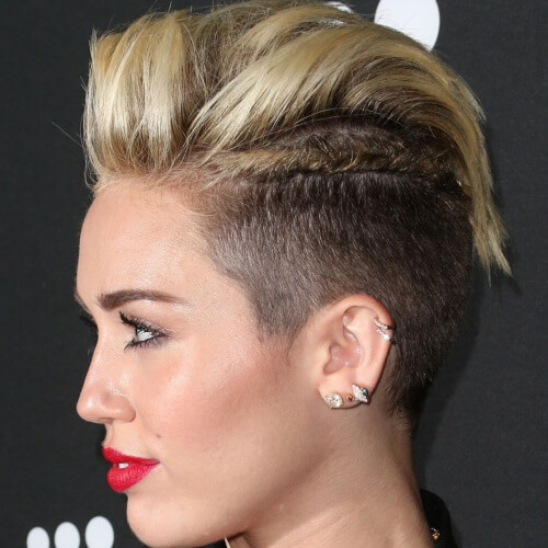 Edgy Miley Cyrus Haircut
