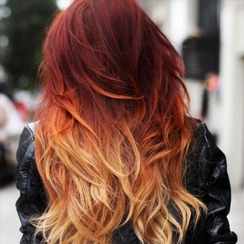 Fiery Two Tone Hair