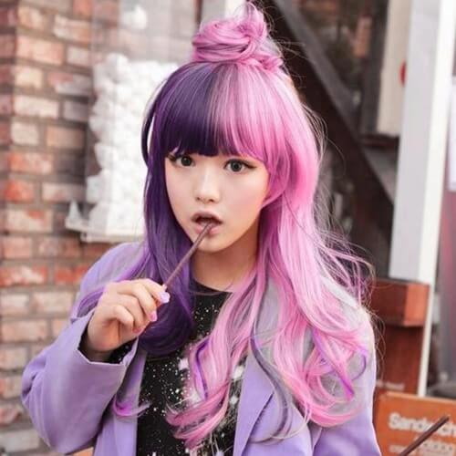 Girly Two Tone Hair