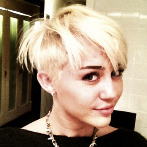Messy Bowl Cut Miley Cyrus Haircut