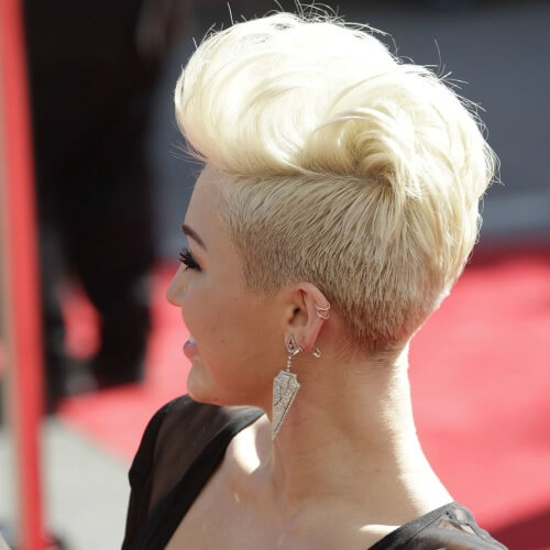 Miley Cyrus Short Hair Back View