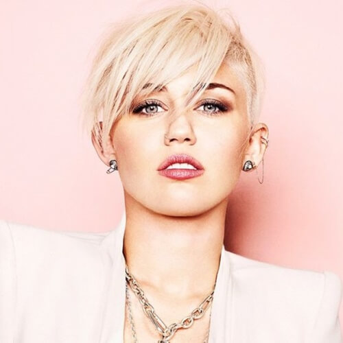 Platinum and Piecey Miley Cyrus Haircut
