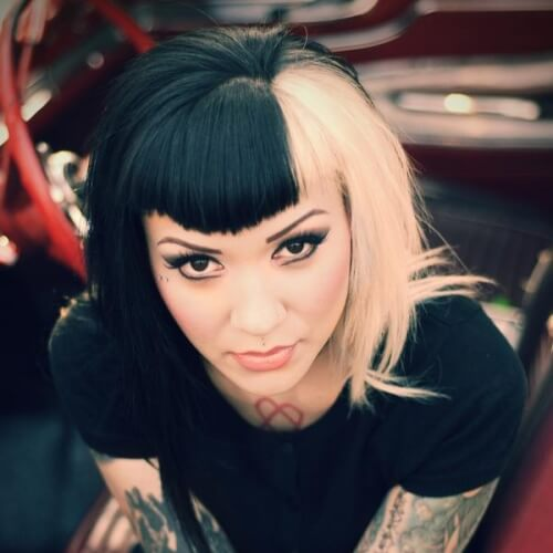 Rockabilly Two Tone Hair