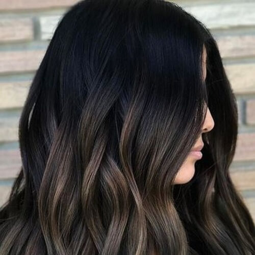 Two Tone Hair Color Ideas for Brunettes