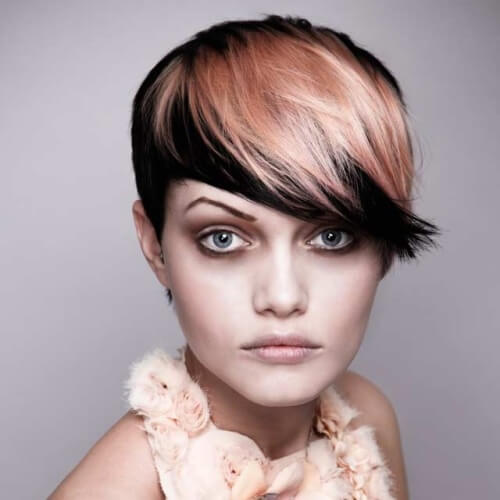 Two Tone Hair Color Ideas for Short Hair