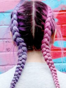Two Tone Hair Pigtails