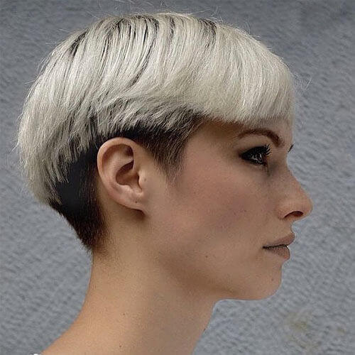 Two Tone Hair with Undercut