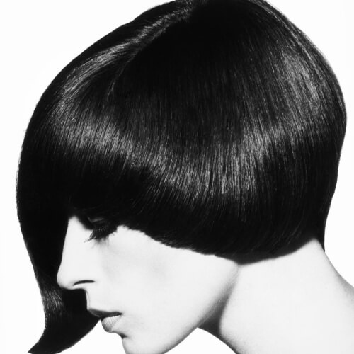 Asymmetrical Pageboy Hairstyle