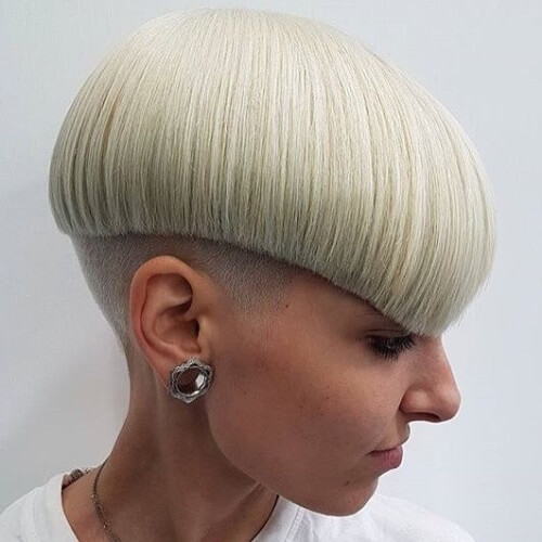 Curved Pageboy Haircut with Undercut
