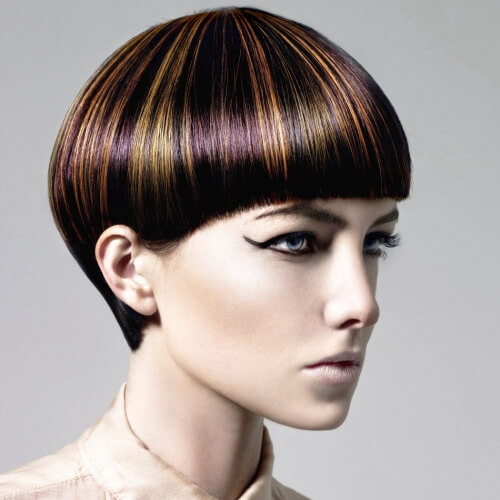 Short Pageboy with Highlights