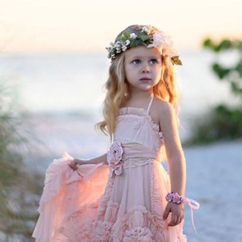 beach flower girl hairstyles