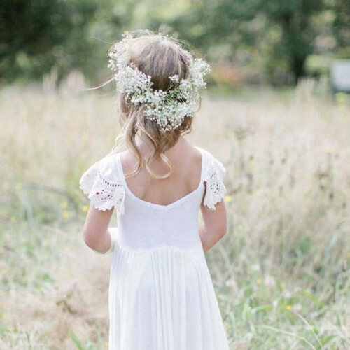 boho flower girl hairstyles