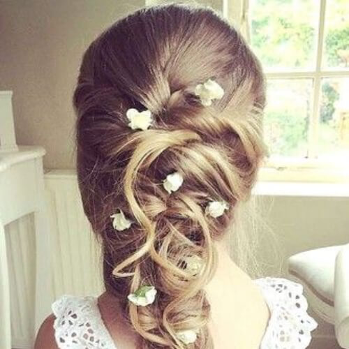braid flower girl hairstyles