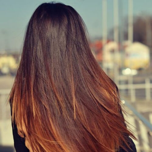 caramel brown ombre hair