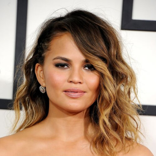 chrissy teigen brown ombre hair