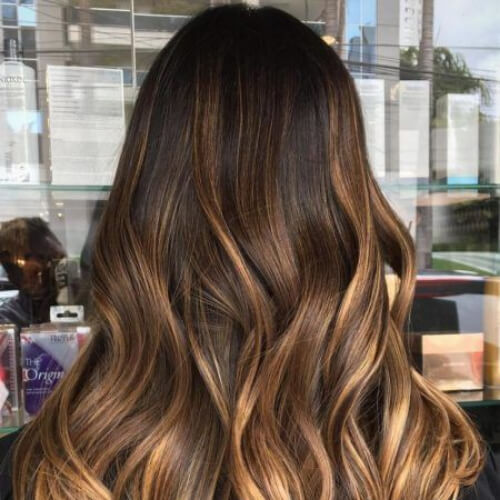 cinnamon brown ombre hair