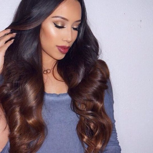 cocoa brown ombre hair