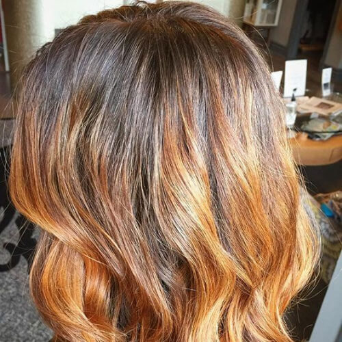 copper brown ombre hair