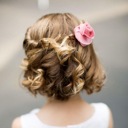diy flower girl hairstyles
