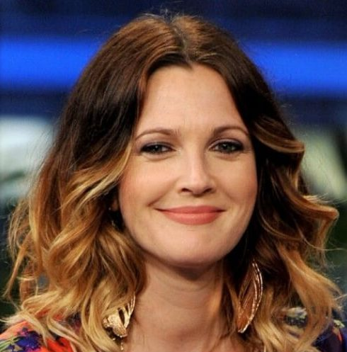 drew barrymore brown ombre hair