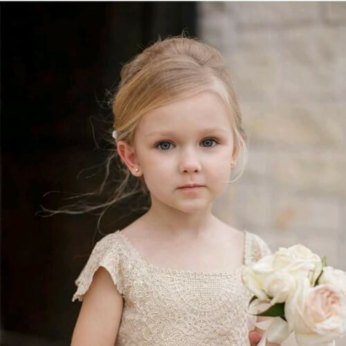 elegant flower girl hairstyles
