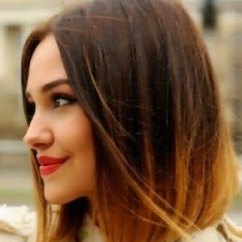 fall brown hair ombre