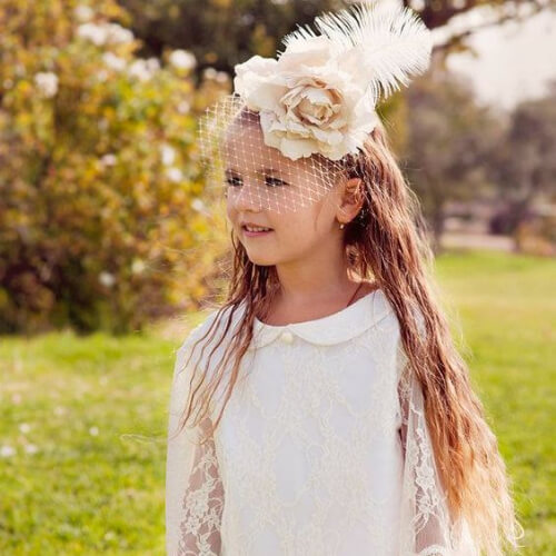 fascinator flower girl hairstyles