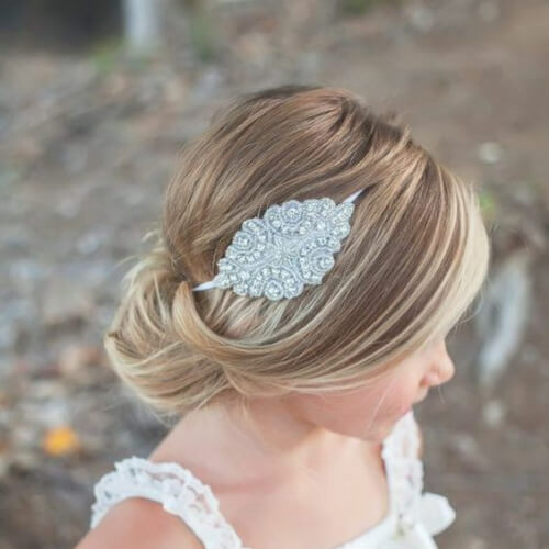 hair jewelry flower girl hairstyles