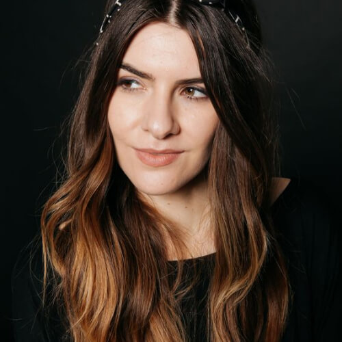 head scarf brown ombre hair