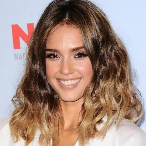 jessica alba brown ombre hair