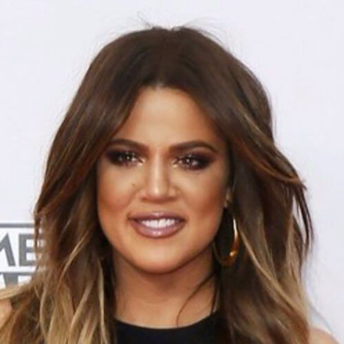 khloe kardashian brown ombre hair