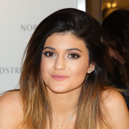 kylie jenner brown ombre hair