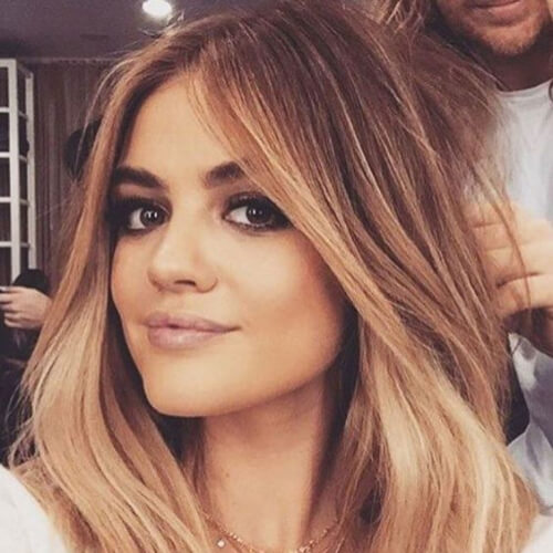 lucy hale brown ombre hair