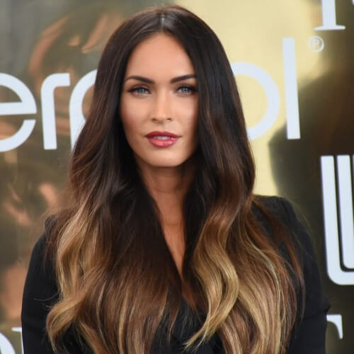 megan fox brown ombre hair